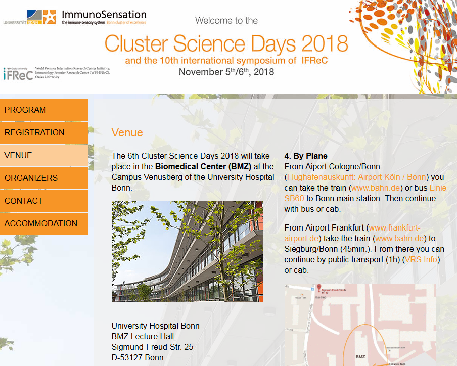 Cluster Science Days 2018 and  the 10th international symposium of IFReC