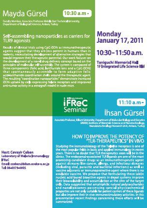 IFReC Seminar Jan. 17, 2011
